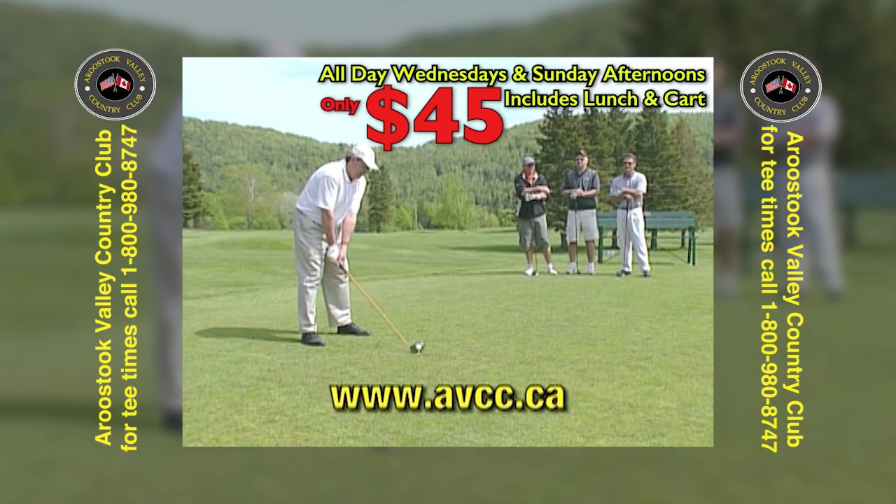 AROOSTOOK VALLEY COUNTRY CLUB $45 WED & SUN 305 RMVP305 HD CREDIT
