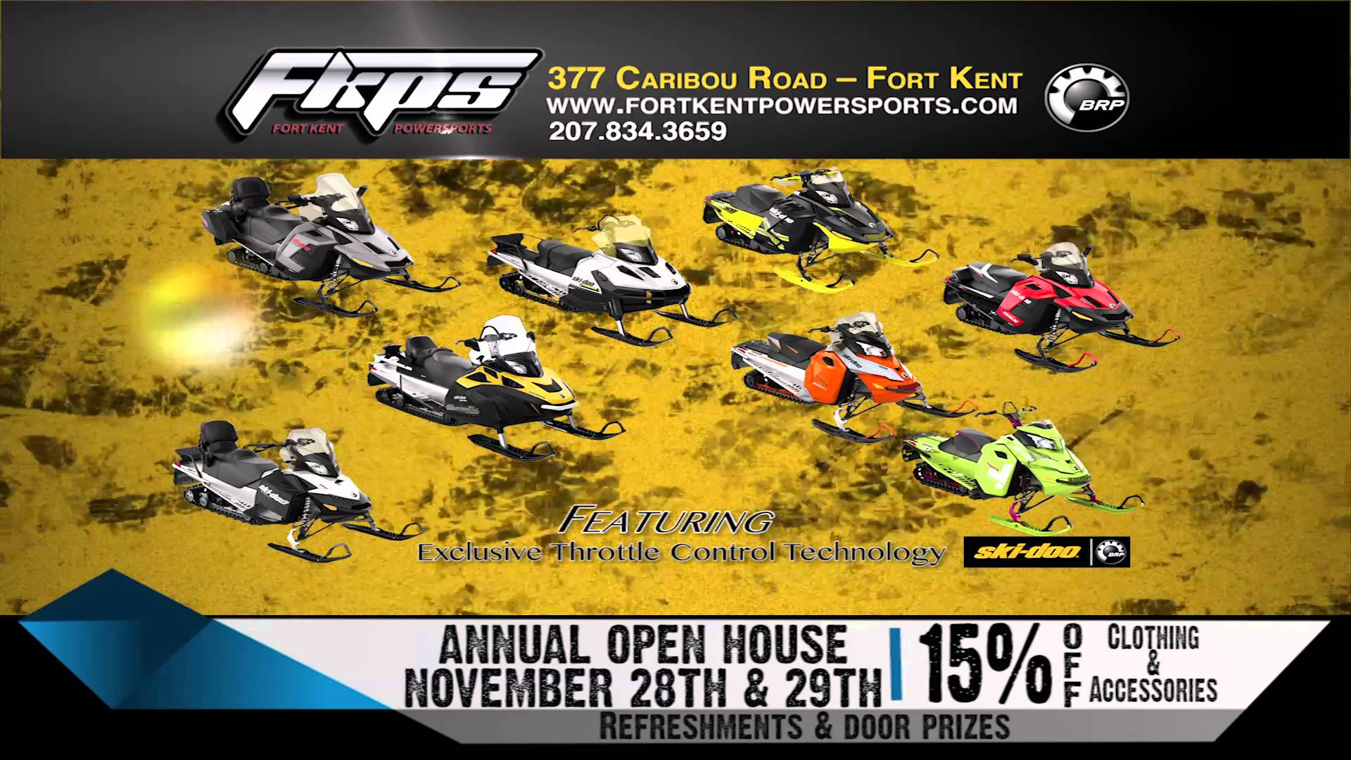 FORT KENT POWERSPORTS BRP OPEN HOUSE 1114 RMVP226A HD