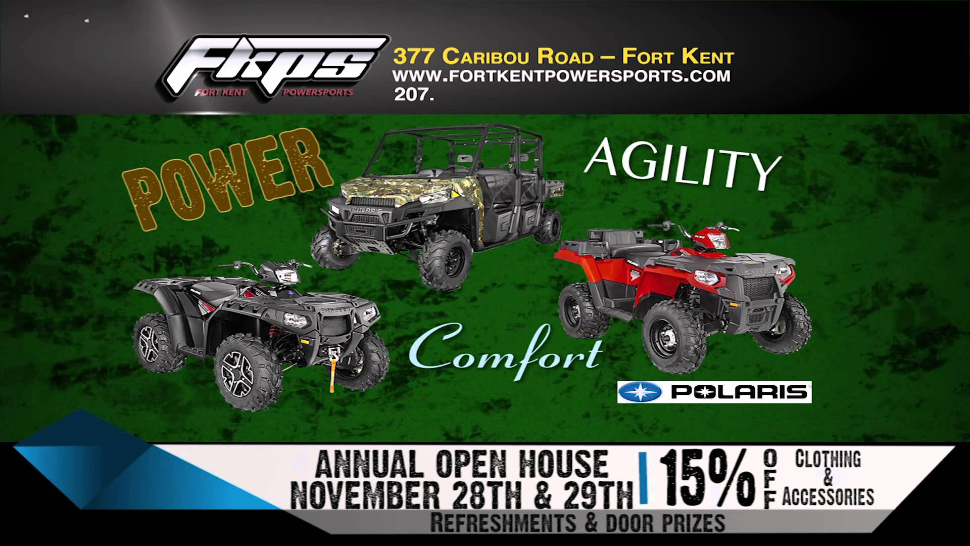 FORT KENT POWERSPORTS POLARIS OPEN HOUSE 1114 RMVP226B HD