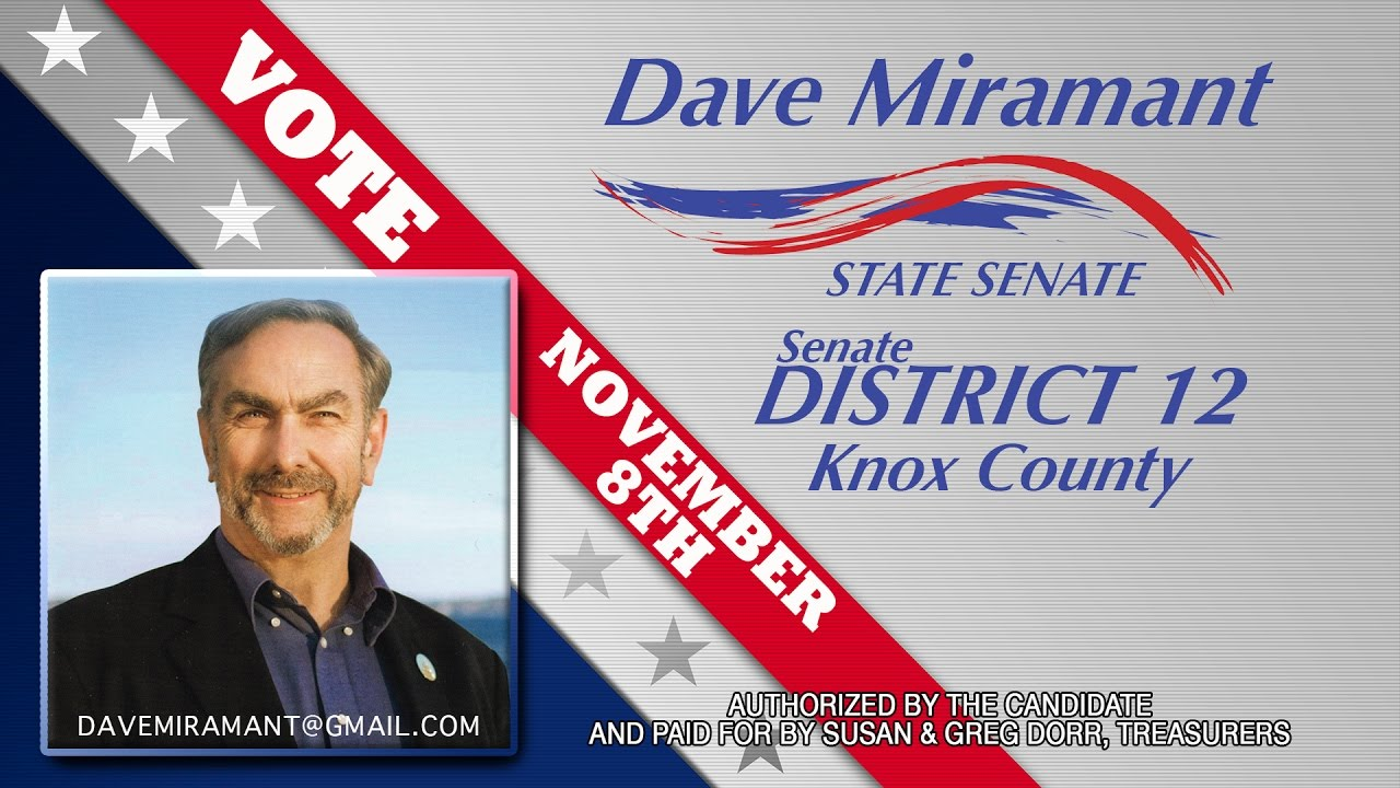 DAVE MIRAMANT FOR SENATE MIRAMANT   CHUCK & BILL & BETH RMVP285C HD